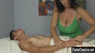 Charlee follow large tit cheerful ending massage