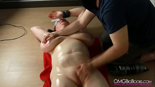 Busty serf pussy fingered by her slavemaster