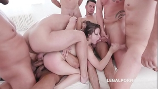 10 on 1 gang team fuck for ultra whore gabriella lati 10 swallows!