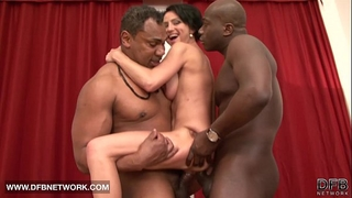 Mature coarse double screwed can't live without large dark weenies in snatch and hard anal