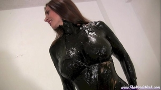 Greased and oiled mindi mink moist and impure