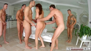 Tina kay anal group sex creampie on all interior part two