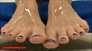 Legsandfeetvideos.com awesome smokin' footjobs and take up with the tongue cum of feet and gulp