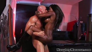Kinky masseuse diamond jackson wazoo screwed