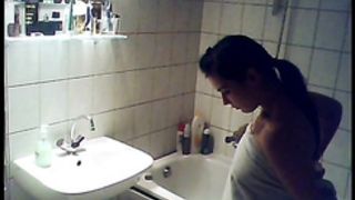 Caught niece having a washroom on hidden web camera - ispywithmyhiddencam.com