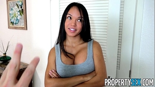 Propertysex - panty sniffing landlord copulates hawt lalin girl tenant with large weenie