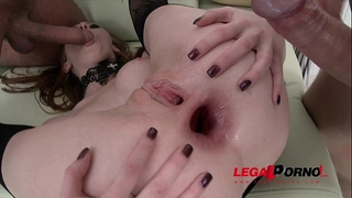 Halloween treat! linda fascinating triple anal (tap) with 4 dudes sz715