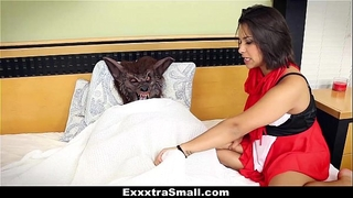 Exxxtrasmall - diminutive legal age teenager drilled and fooled on halloween