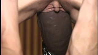 Busty non-professional screwed non stop by a brutal sex-toy machine