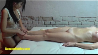 Lesbian oil massage by 2 19yo czech non-professional sweethearts