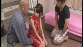 Steamy porn act along japanese doll with 2 lascivious guys
