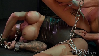 Bdsm xxx youthful sub receives so juicy when manacled up and dominated by her dominant