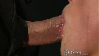 Bdsm xxx fastened up sub beauty receives masters full attention in dungeon