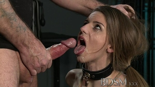 Bdsm xxx juvenile large breasted sub receives hard anal from her slavemaster