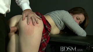 Bdsm xxx caged sub learns the hard way with anal treatment from her dom