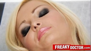 Gorgeous czech golden-haired nicky angel clinic fetish