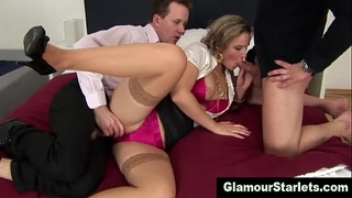 Clothed nylons hoe receives drilled