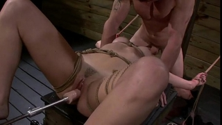 Bdsm chick marley blaze banged by fucking machine and wang of slaver