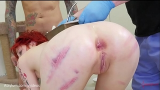 Anal birth - ava little gives birth to kittens out of her anus