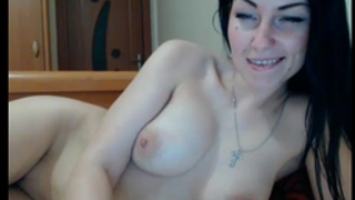 Cute dark brown fingering and fucking her pussy(8)