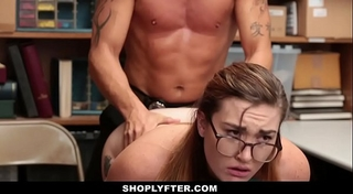 Shoplyfter - naked down and explored for stealing