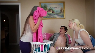 Milf bonks teen daughter's fixture featuring leilani lei with an increment of fifi foxx - cougar bonks 18yo man