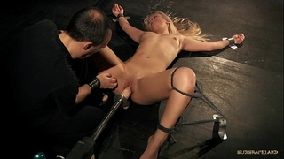 Curvy hot blonde nailed off out of one's mind huge fuck tool