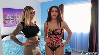 Spizoo - karma rx and valentina nappi fuck and engulf a large dick, large a-hole