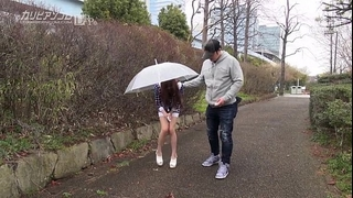 Remote controlled oriental cunt outdoor