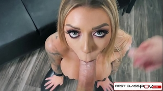 First class pov - see karma rx take her throat and cunt full of penis