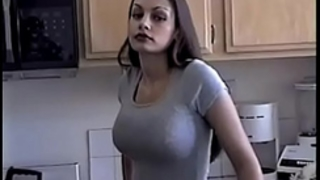 Hot aria giovanni cools off by pouring milk all over her face and milk sacks