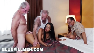 Blue pill fellows - 3 old studs and a latin wife named nikki kay