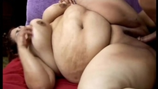 Beautiful breasty bbw milf can't live without the smack of cum