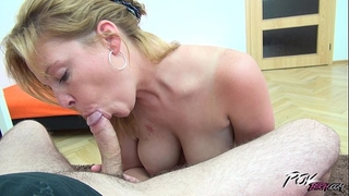 First anal tryout for sweetheart with natural large boobs
