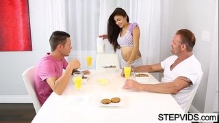 Teen banging everywhere stepbro enhanced away from stepdad
