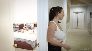 Huge titted maid copulates the virgin dude - angela white, tyler nixon